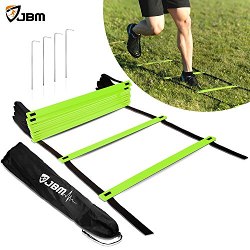 JBM Agility Ladder (Green, 8-rung with 13' (4m) strap)