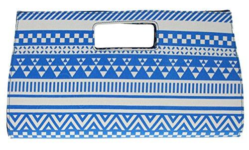 Girly Handbags - Cartera de mano para mujer W 40, H 23, D 6 cm (W 16, H 9, D 2.5 inches) azul - azul