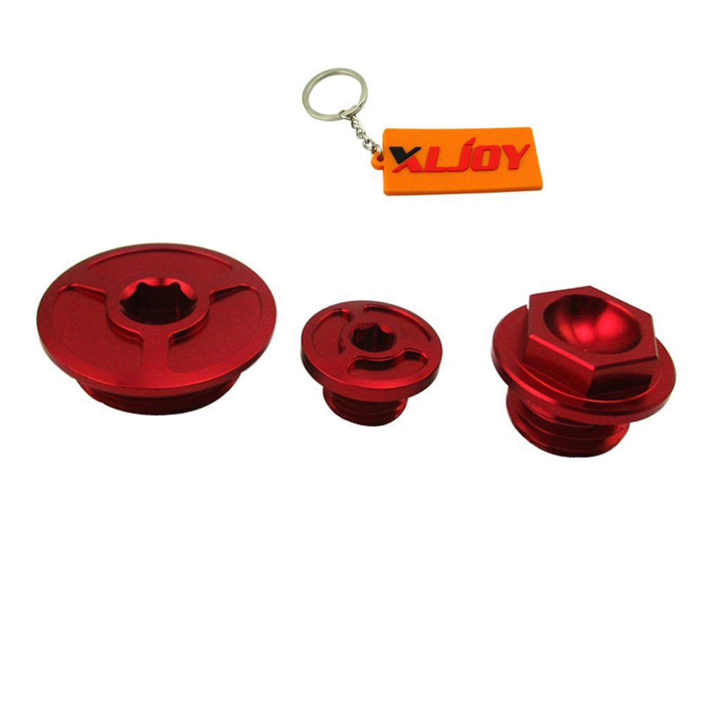 XLJOY CNC Aluminum Engine Timing Oil Filter Plugs For Honda TRX400EX TRX450R/ER ATV