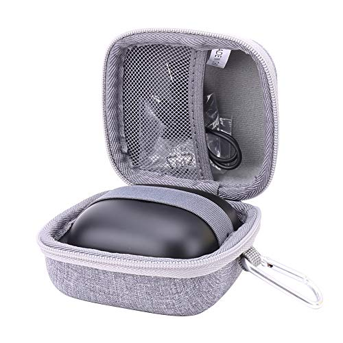 Aenllosi Hard Storage Case for Powerbeats Pro Totally Wireless Earphones with Anti-Lost Earbuds Strap (Grey)