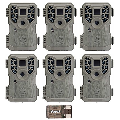 Stealth Cam PX14X P Series Digital Scouting Trail Game Camera (10MP), 6-Pack with Focus USB Reader