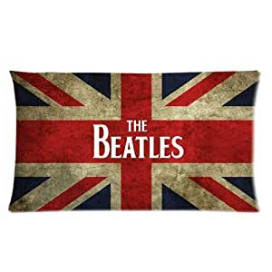 Generic Personalized Vintage Style Britain Flag The Beatles Pattern Sold By Too Amazing Pillow Case Roomy Rectangle Pillowcase 20x36 (one side) )