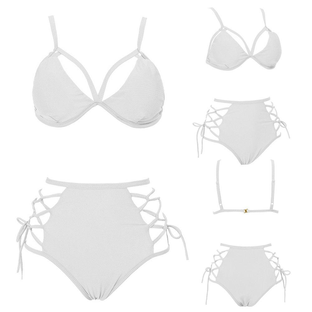 Bikini Costume Da Bagno Amazingdeal365 Donne Ad Alta Vita Bendaggio Bikini Set Push-Up Reggiseno Imbottito