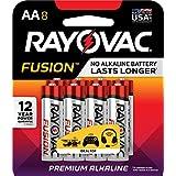 RAYOVAC AA 8-Pack FUSION Advanced Alkaline Batteries, 815-8TFUSJ