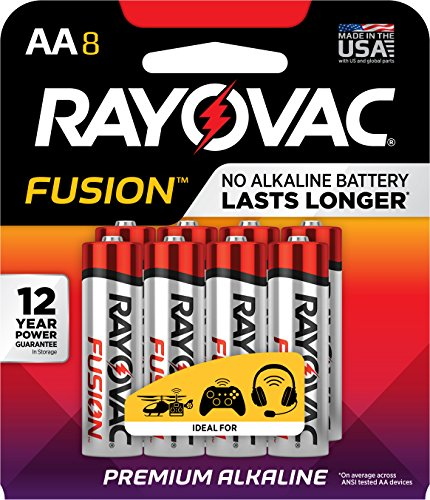 Fusion by Rayovac High-Power Alkaline Batteries, Size AA, 8-