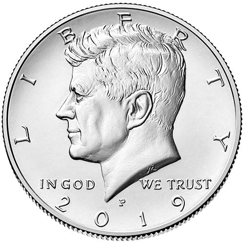 - 2019 P & D BU Kennedy Half Dollar Choice Uncirculated US Mint 2 Coin Set