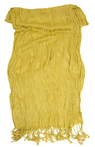 Love Lakeside-Women's Must Have Solid Color Crinkle Scarf (One, Avocado Green) by Love Lakeside (Image #2)