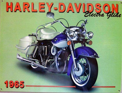 - 1965 Harley-Davidson Electra Glide Motorcycle Metal Sign