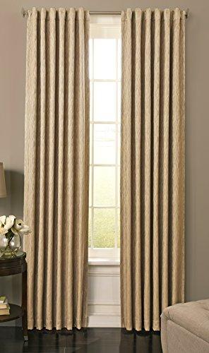 Beautyrest 15781052084JUT Barrou 52-inch by 84-Inch Blackout Single Window Curtain Panel, Jute