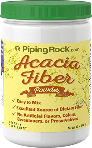 Acacia Fiber Supplements (Piping Rock Acacia Fiber Powder 12 oz (340 g) Bottle Dietary Supplement)