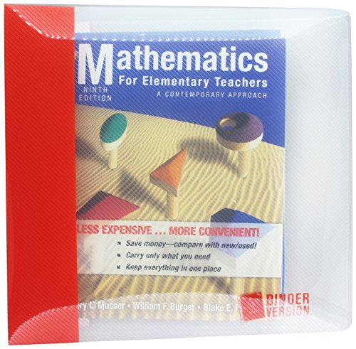 Mathematics for Elementary Teachers: A Contemporary Approach 9th Edition Binder Ready Version with 2