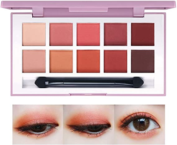 SUNSENT Matte Peach Eyeshadow Palette