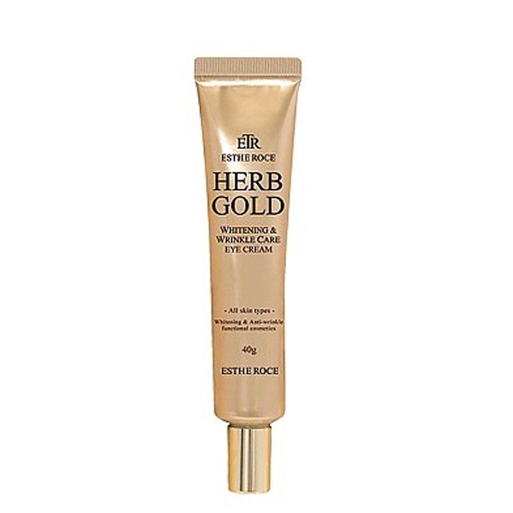 Estheroce, Herb Gold Whitening Wrinkle Care Eye Cream, Pure Gold, KFDA Certification, All skin type, 40g