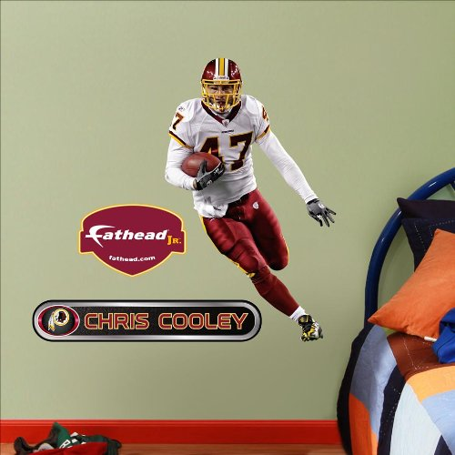 Fathead NFL Washington Redskins Chris Cooley Junior Wall (Washington Redskins Nfl Wall)