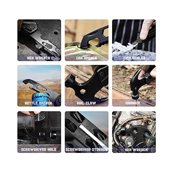 51gCSgCJ5pS Seven Sparta Camping Multitool Zubehör, 13 in 1 Multi Tools Hammer Cool Gadgets für Papa, Geschenke Strumpffüller Alles…