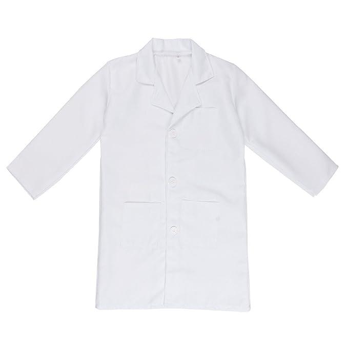 Freebily Bata Blanca Bata de Laboratorio Traje Disfraz de Doctor Enfermera Cocinero Chaqueta para Niño Niña Unisex Cosplay Uniforme: Amazon.es: Ropa y ...