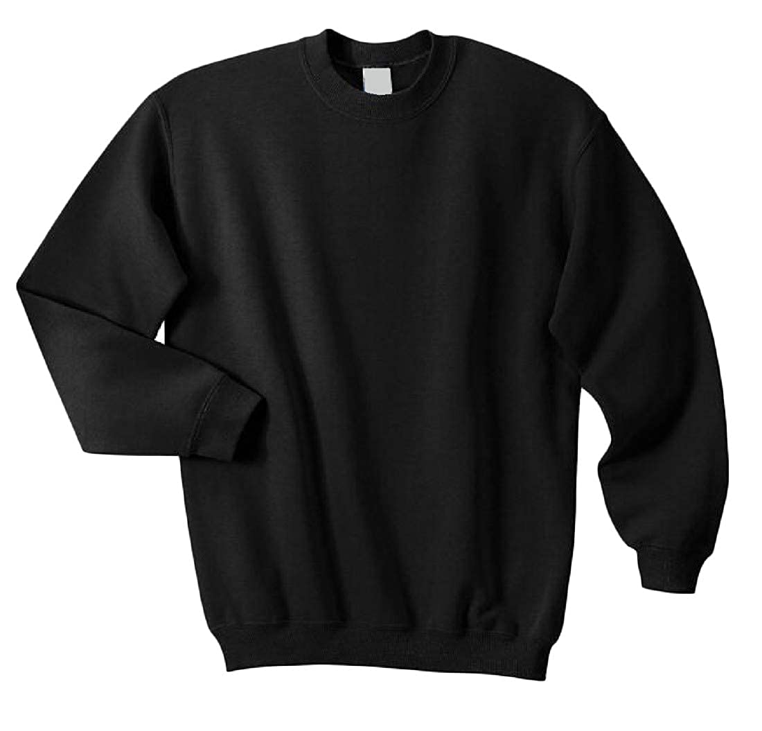 Sweatwater Mens Long Sleeve Thicken Pullover Casual Top Crew Neck Sweatshirts