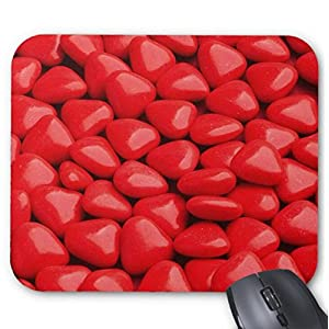 Mousepad Red Mini Chocolate Heart Dragees Mouse Mat