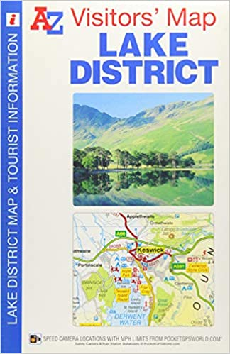 Map Of Uk 12 Mile Limit.Lake District Visitors Map A Z Visitors Map Amazon Co Uk