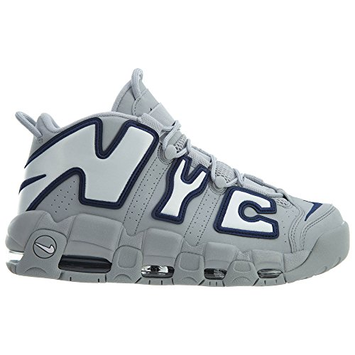 Nike Air Meer Uptempo Nyc Qs Heren Wolf Grijs / Wit-midnight Navy
