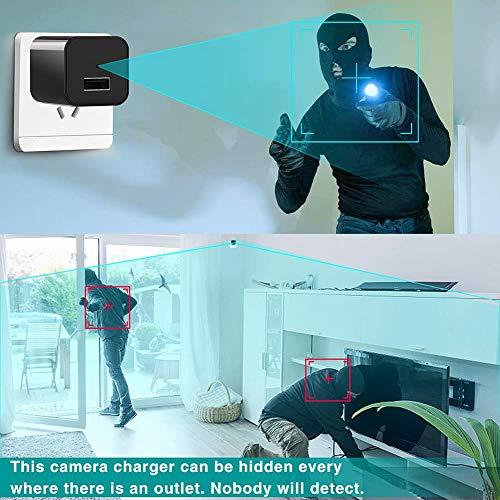 Hidden Camera for Home,Hidden Spy Camera Charger-Wall Charger Spy Camera-Mini USB Spy Camera-Video Recording-Nanny Cam-1080P-Motion Detection-Support Max 256GB SD Card
