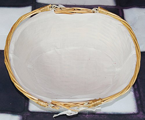 Vintiquewise(TM) QI003055.WF Oval Willow Basket with Double Drop Down Handles by Vintiquewise (Image #3)