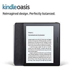 "Kindle Oasis E-reader with Leather Charging Cover - Black, 6"" High-Resolution Display (300 ppi), Wi-Fi - Includes Special Offers"