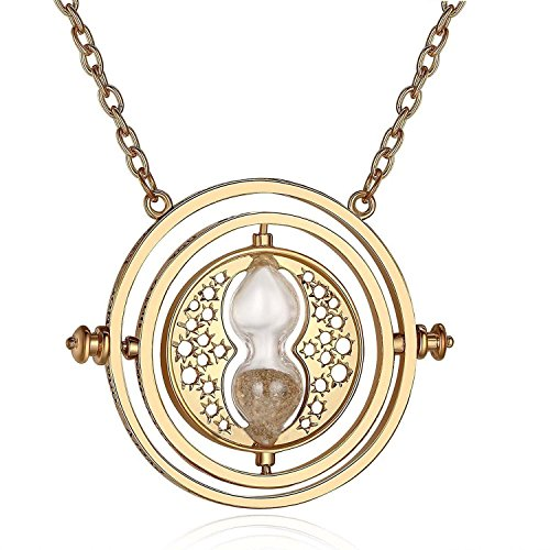 Gold Time Turner Necklace - Halloween Costume Accessory (Time For Halloween)