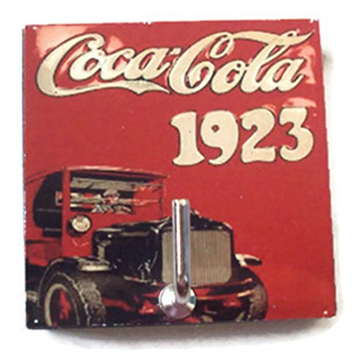 Agility Bathroom Wall Hanger Hat Bag Key Adhesive Wood Hook Vintage Coca Cola 1923 Year's Photo