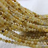6mm Round Topaz Beads Loose Gemstone Beads for Jewelry Making Strand 15 Inch