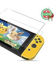 Protection écran Nintendo Switch PORTHOLIC [2 unités] [Anti-éclatement] Film Vitre Protecteur en Verre Trempé, 6.2pouces, Ultra Clair, Anti-bulles, Anti-empreintes et Résistant aux Rayures