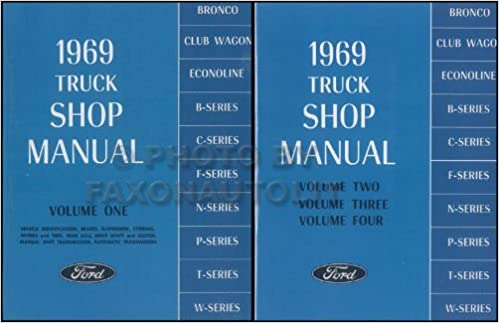 Amazon.com: 1969 FORD TRUCK & PICKUP FACTORY REPAIR SHOP ... on