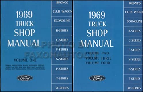 1969 ford truck pickup factory repair shop service 2 book set of rh amazon com 1967 ford f100 service manual 1972 Ford F100