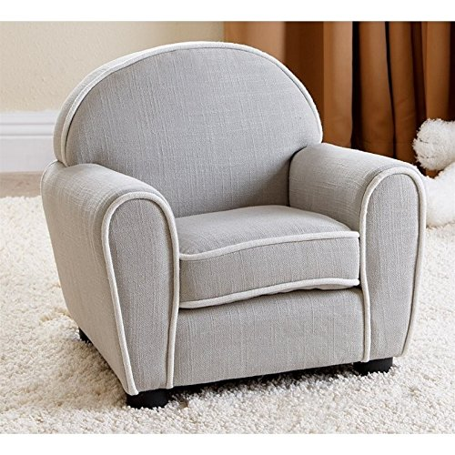 Abbyson Living Kids Sophie Fabric Baby Armchair in Gray (Armchairs Discount)