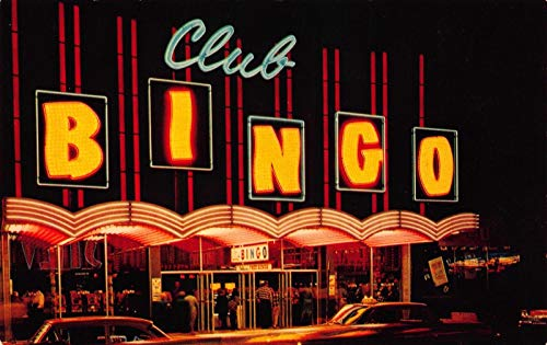 Postcard Club Bingo in Downtown Las Vegas, Nevada~119763 (Best Bingo In Vegas)