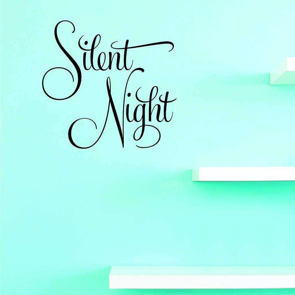 12 x 12, Black Design with Vinyl US V JER 3242 1 Top Selling Decals Silent Night Wall Art Size X 12 Inches Color