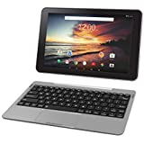 RCA Viking Pro 32GB Quad Core 10.1 Hdmi Bluetooth WiFi Detachable Keyboard Android 6.0 (Silver)