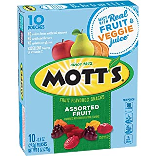Mott's Assorted Fruit Flavored Snacks, 10 ct, 8 oz (Pack of 8)