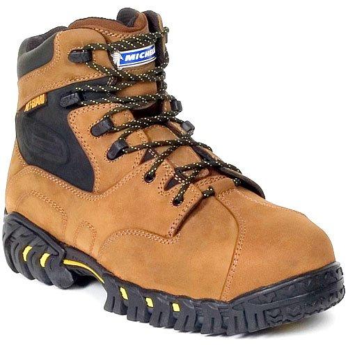 (MICHELIN Men's Steel Toe Metatarsal Guard Hitop Boots,Brown,11.5 W)
