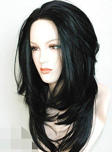 Straightened Long Layered Black Hair 93