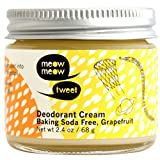 Baking Soda Free Grapefruit Deodorant Cream 2.4 oz by Meow Meow Tweet