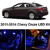 LEDpartsNow Chevy Cruze 2011-2014 Blue Premium LED Interior Lights Package Kit (7 Pieces)
