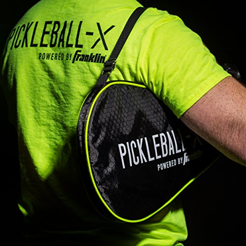 Franklin Sports Pickleball Paddle Bag - Official Bag of the US Open - Black/Optic Yellow