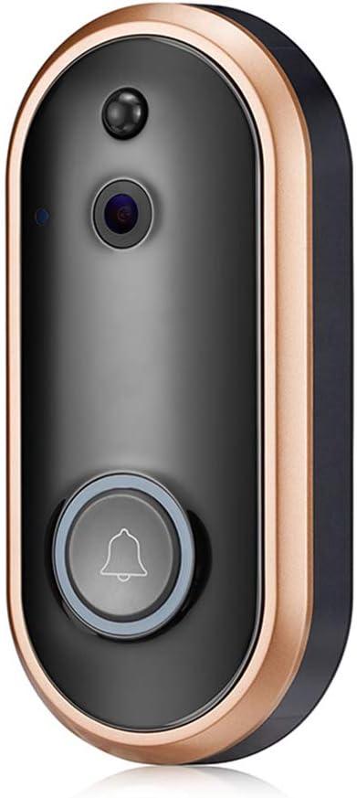 Wlehome Video Timbre de la cámara, WiFi Smart inalámbrico Digital Timbre de vídeo, cámara de Seguridad HD Video en Tiempo Real de Dos vías de visión Nocturna de Audio, para iOS Android,Black