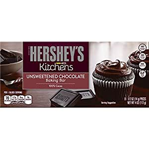 HERSHEY'S Kitchens Baking Bar, Semi-Sweet Chocolate, 4 Ounce Package (Pack of 6)