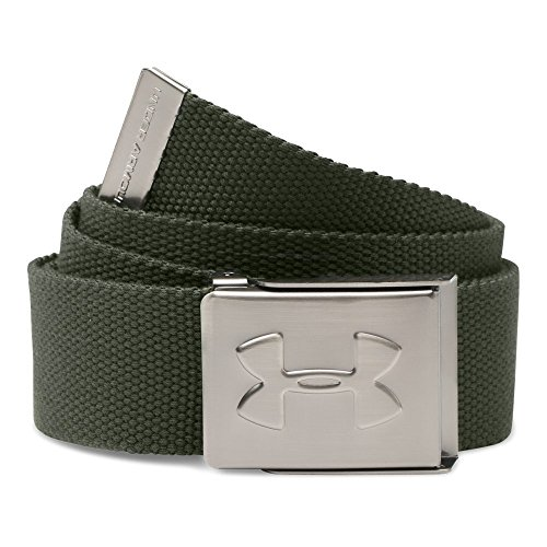 Under Armour Men's Webbed Belt, Downtown Green/Graphite, One Size