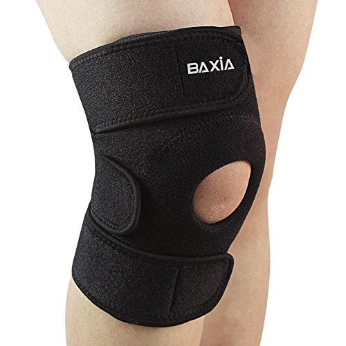 BAXIA TECHNOLOGY Sports Knee Sleeve, Compression and Support for Running Jogging Weightlifting by BAXIA TECHNOLOGY