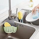 Binmer(TM) Useful Suction Cup Sink Shelf Soap Sponge Drain Rack Kitchen Sucker Storage Tool (B)