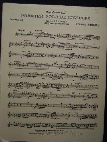 Premier Solo De Concours Bb Trumpet Solo with Piano Accompaniment