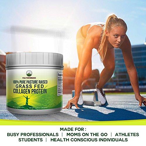 Pure Pasture Raised Grass Fed Hydrolyzed Collagen Protein by Peak Performance. Paleo Friendly, Gluten & Dairy Free Collagen Peptides (Unflavored Collagen) by Peak Performance Coffee (Image #4)